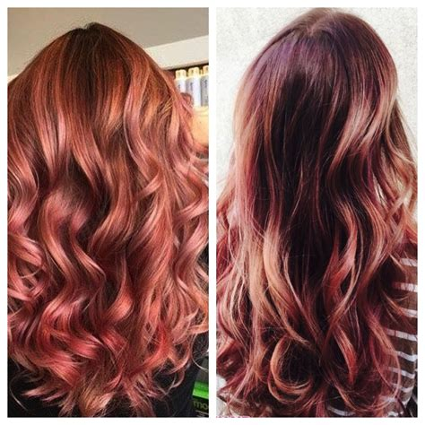 rose gold hair color rose gold hair stylenoted
