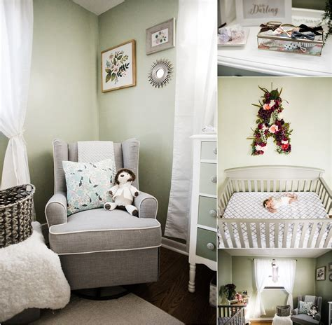 Floral And Green And Purple Nursery Decor Melissa Lucci Purple And Green Nursery Decor
