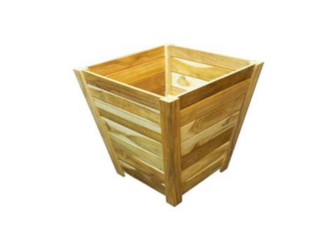 24 Inch Planter Box by Teak Trapezoid Tree Planter Box 24 Inch Teak Planter