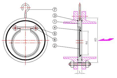 Check Valve Wafer Ss316 Single Door 4 Pn40 Interflow single door wafer type check valve astech valve co ltd