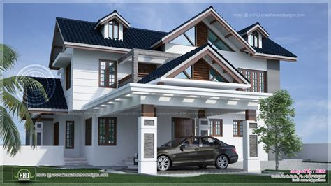4 Bedroom Floor Plans 2 Story by River Side Kerala Style Residence Exterior Design Home