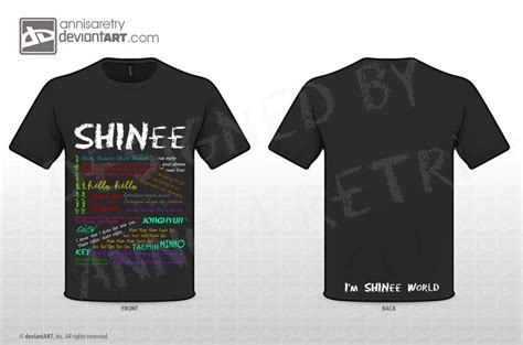 Kaos Shinee Shinee 2 shinee lyrics t shirt by annisaretry on deviantart