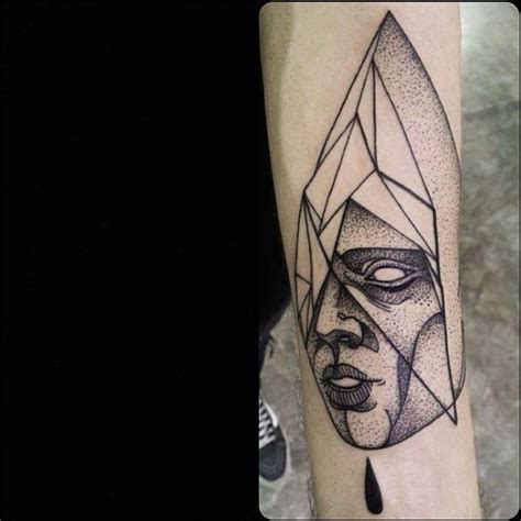 tattoo geometric face geometric face tattoo by michele zingales tattoomagz