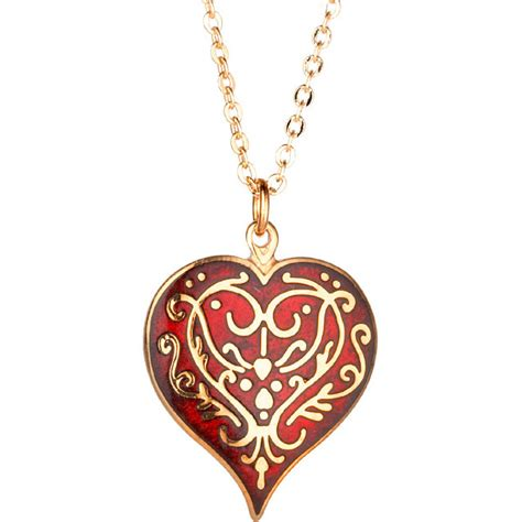 Decorative Hearts For The Home by Red Heart Pendant Necklace The Met Store