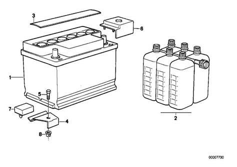 Original Bmw 1er Batterie by Original Bmw Batterie Gef 252 Llt 55ah 1er 3er 7er X3 Z4 Mini
