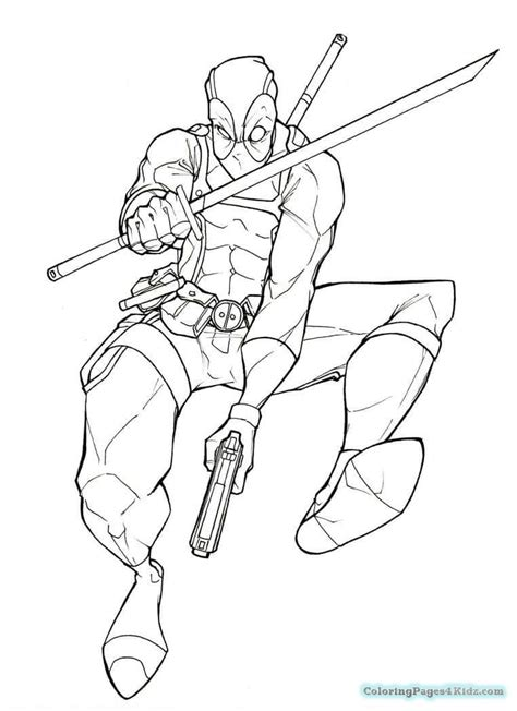 Coloring Page Deadpool by Deadpool Coloring Pages Free Printable Coloring Pages