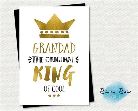printable birthday cards for grandpa printable birthday card grandad the original king of