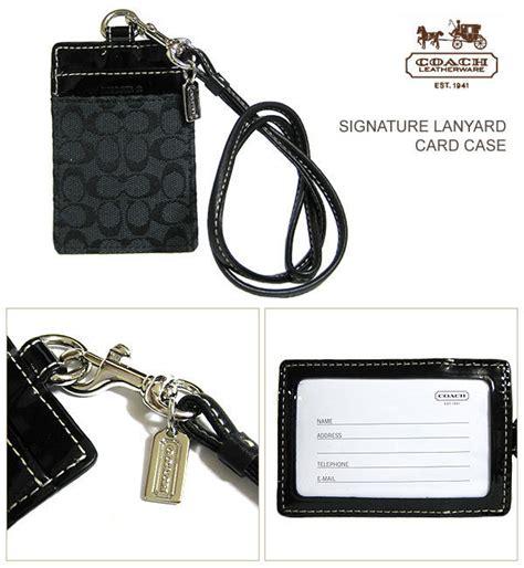 Coach Name Tag Holder small handbags coach lanyard id holder