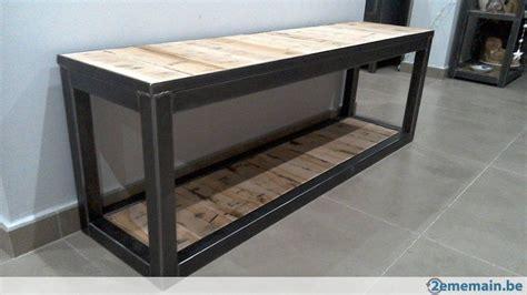 table a manger bois metal 926 petit meuble bas range chaussures buches ou simplement