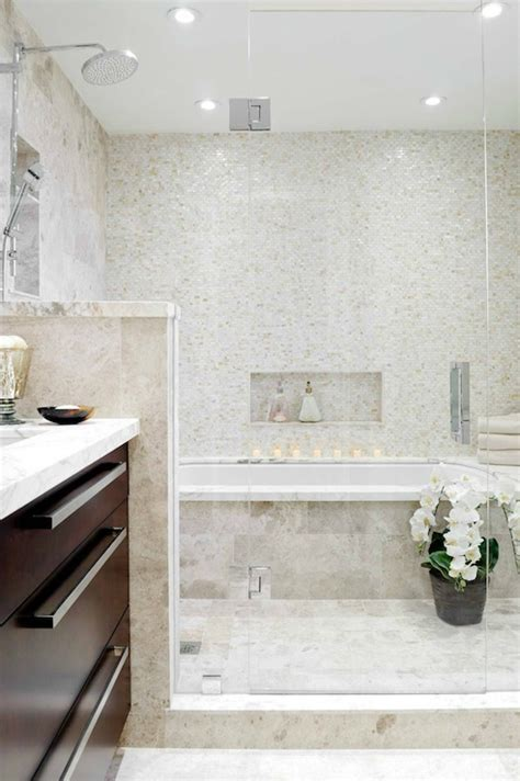Tile Bathtub Shower Combo by Walk In Shower And Tub Combo Transitional Bathroom