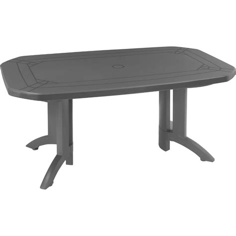table plastique jardin carrefour table de jardin rectangulaire v 233 ga grosfillex leroy merlin