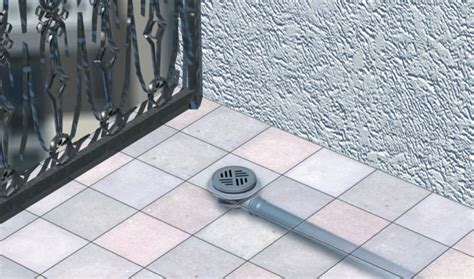 balcony patio drains kessel leading in drainage
