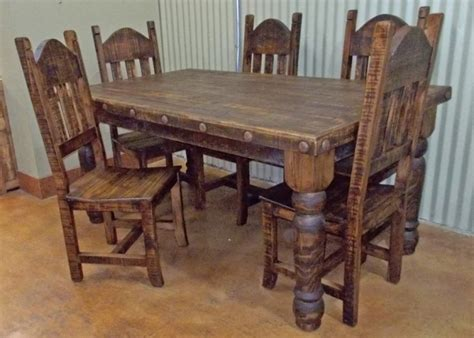 rustic dining table and chairs rustic table and chairs designcorner