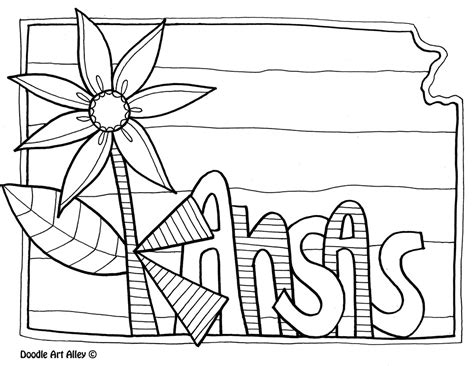 K State Coloring Pages by United States Coloring Pages Classroom Doodles