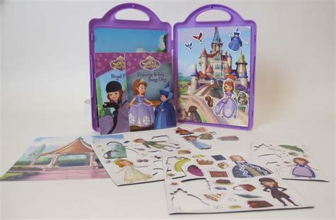 Magnetic Book Princess sofia the ready to be a princess book and magnetic playset by disney book disney