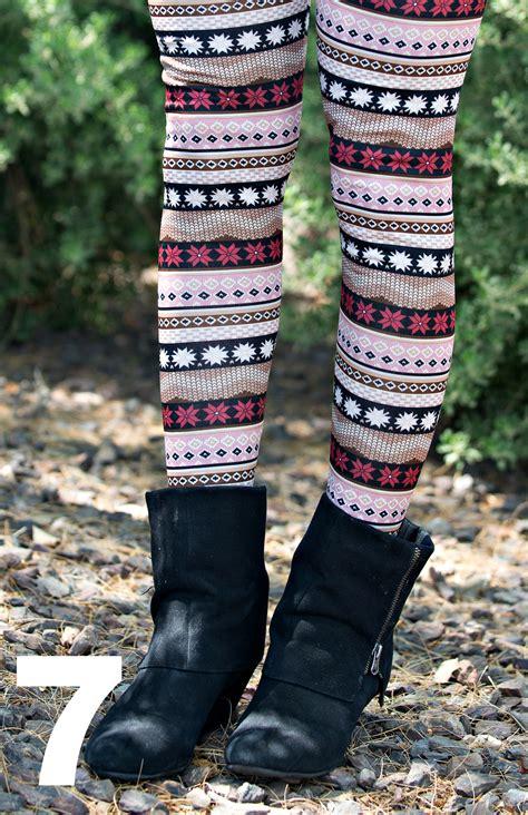 lined patterned leggings fleece lined patterned leggings 7 styles bellechic