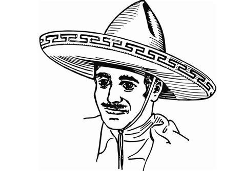 charro dibujo imagui dibujo para colorear sombrero img 13225