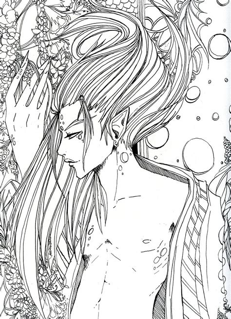 forest elf coloring pages forest elf lineart by tashiya sama on deviantart