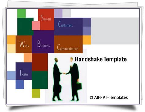 Powerpoint Handshake Template Powerpoint Templates Sales Presentation