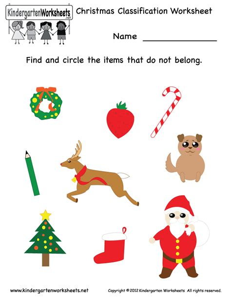 7 best images of free preschool christmas printables