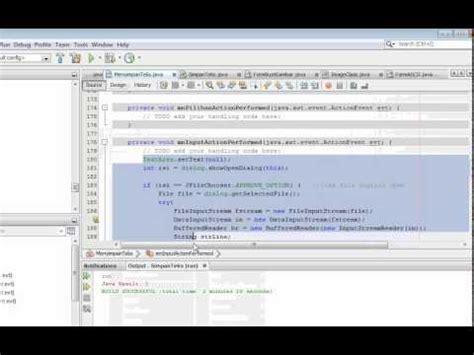 tutorial netbeans belajar tutorial belajar program input dan simpan file teks