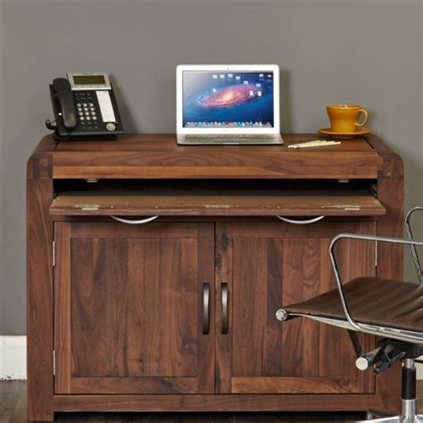 hidden office desk great offers on shiro walnut furniture at oak furniture house