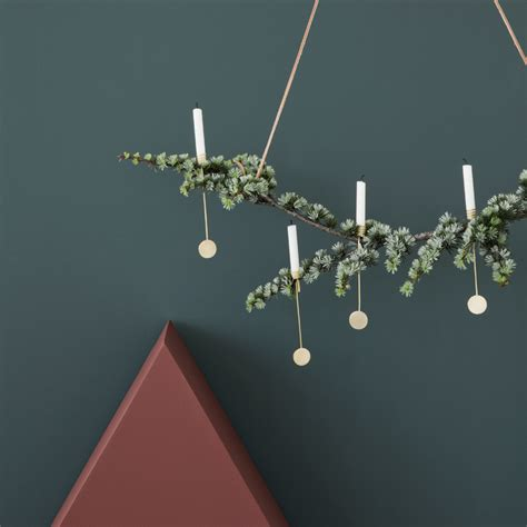 ferm living christmas tree candle holder set the century