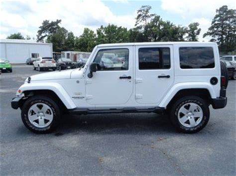 white jeep sahara tan interior buy used unlimited sahara 4x4 low miles white tan leather