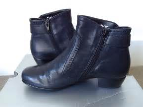 gabor navy blue leather wide fitting ankle boots size 3