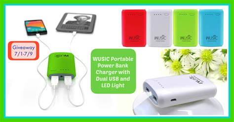 Bank Giveaways - enter to win a wusic portable power bank charger frugallydelish com