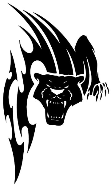 tribal football tattoos vicious tribal panther sreaming design football