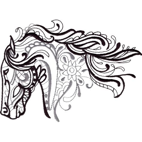 horse tattoo designs free this free embroidery design from embroidery is a