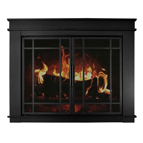 Pleasant Hearth Glass Fireplace Doors Pleasant Hearth Fillmore Small Glass Fireplace Doors Fl 5800 The Home Depot