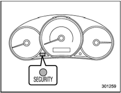subaru security indicator light security indicator light warning and indicator lights