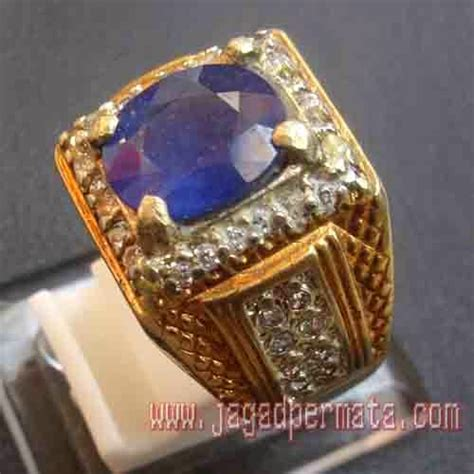 Paparaca Ring Alpaka batu permata blue safir jual batu permata hobi permata