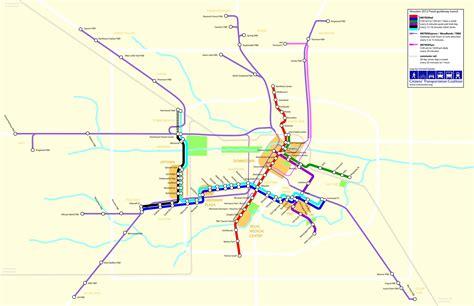 houston map with metro rail houston metro rail map world map 07