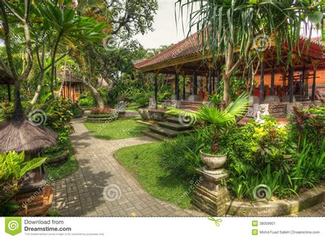 landscape design indonesia peaceful landscape in istana ubud bali indonesia stock