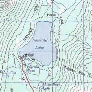 emerald lake topo map