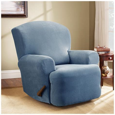 slipcover recliner chair sure fit 174 stretch pearson recliner slipcover 292825