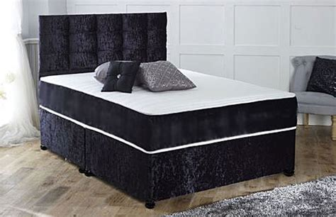 divan beds with headboard pocket sprung memory foam crushed velvet divan bed with