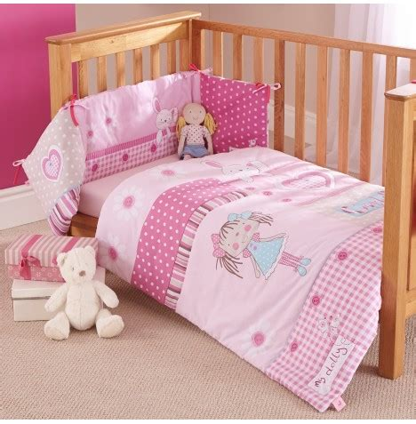 Pink Cot Bumper And Quilt Sets by New Clair De Lune Dolly Cot Cotbed Baby Quilt And