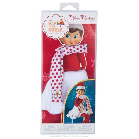 On The Shelf Couture by Claus Couture Snowflake Skirt Scarf Advent Boxes