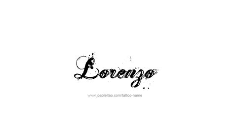 lorenzo name tattoo designs