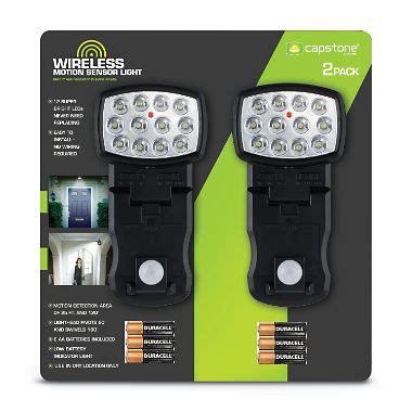 capstone wireless motion sensor light 2 pk wireless motion sensor light 2 pk sam s