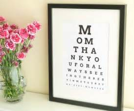 Christmas Gifts For Mom From Daughter by Diy Eye Chart Personalized Mothers Day Gift