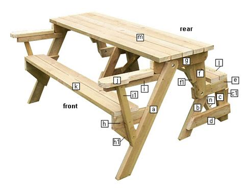 folding picnic table schematics wood projects folding