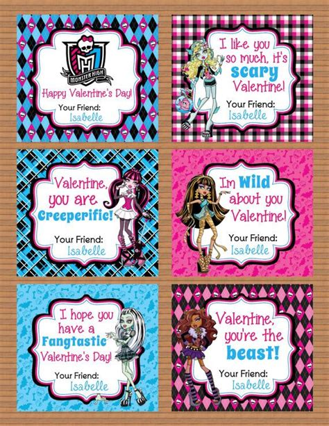 monster high printable id cards 7 best images of monster high printable cards printable