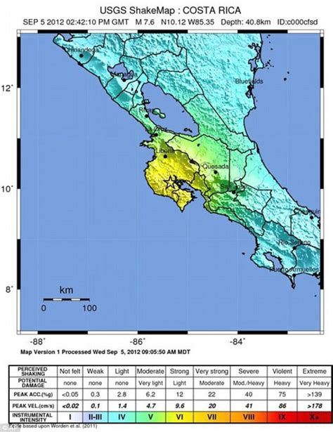 intensity map us states powerful 7 6 magnitude quake hits costa rica emerging