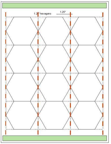 paper hexagon templates for patchwork geta s quilting studio tips for cutting hexagon templates