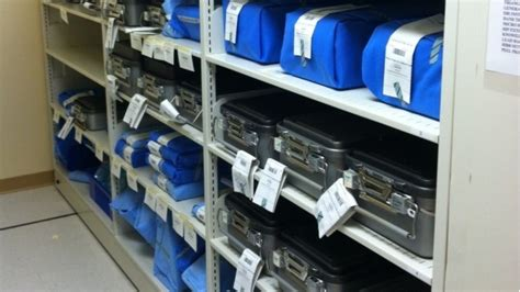 healthcare hospital sterile supply mobile shelving